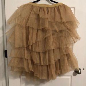 Lane Bryant Gold Tutu Skirt